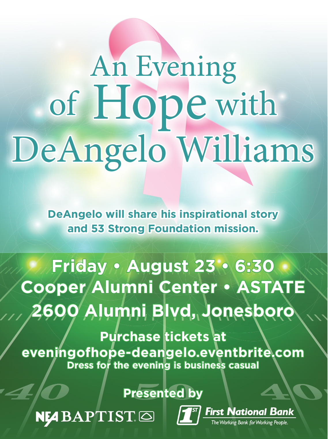 An Evening of Hope with DeAngelo Williams - NEA Baptist Charitable